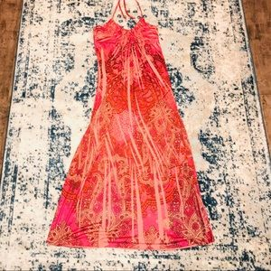Dresses & Skirts - SOLD Lovely Coral Beach/Summer Stretchy Maxi dress